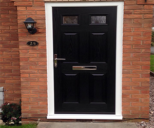 belvoir composite door with satin glass blue