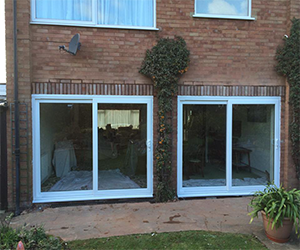 white sliding patio door