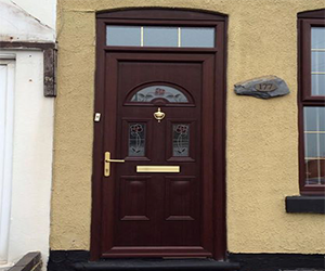 york rosewood upvc door