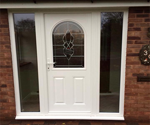 beverley white upvc door