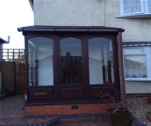 porch mahogany upvc