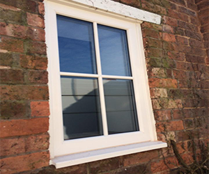 white astrical fixed upvc window